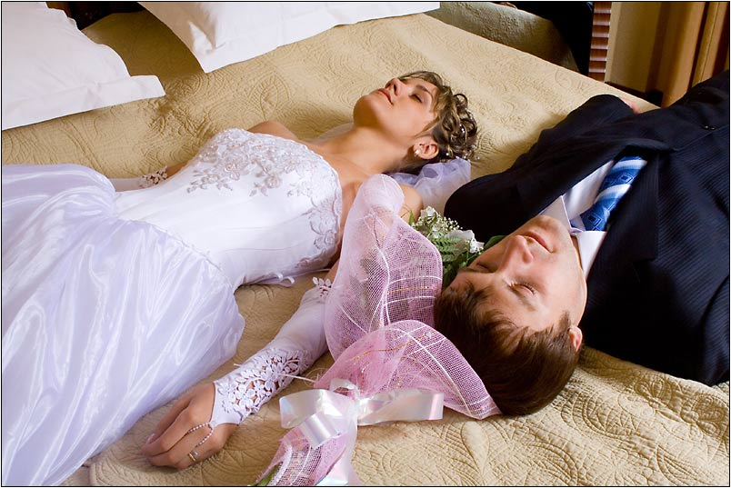 фото брачной ночи молодоженов